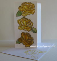 Tombow watercolor roses yellow_TLB