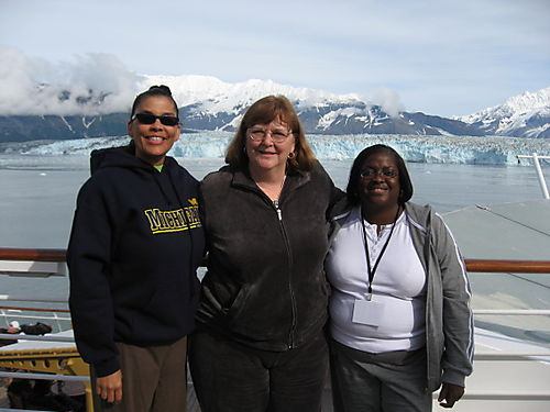 IMG_1817 Trena Marge Terry with Hubbard Glacier