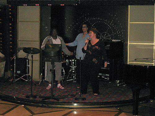 IMG_1828 Terry Trena Dierdre Singing Kareoke